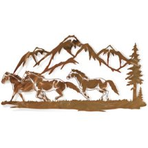Rocky Mountain Run Metal Wall Art