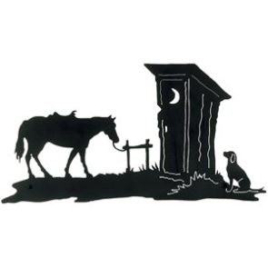 Outhouse Decor Metal Wall Art