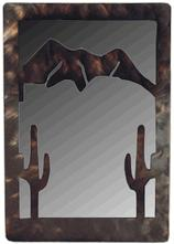 Saquaro Metal Art Mirror