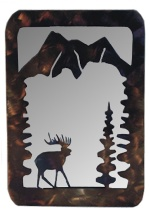 Elk Metal Art Mirror