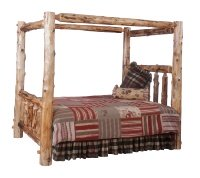 Log Bed with Canopy